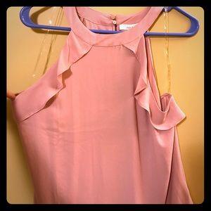 Light pink chiffon tank, NWT, L